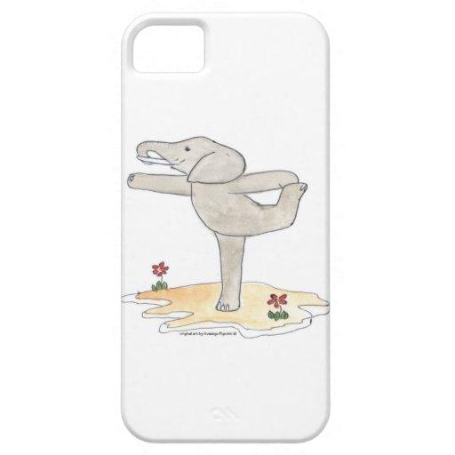 La actitud del bailarín practicante de la yoga del iPhone 5 protector