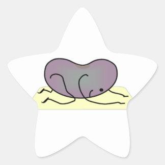 La actitud del niño - la haba de la yoga calcomanía forma de estrella personalizadas