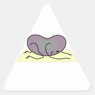 La actitud del niño - la haba de la yoga calcomanías de triangulos personalizadas