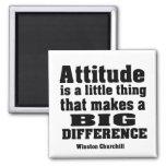 La actitud diferencia grande imán cuadrado