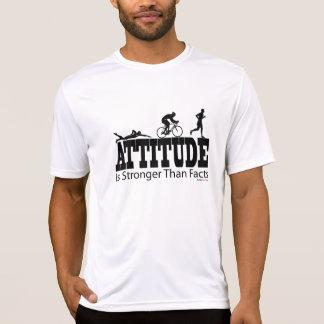 La actitud es stonger que los hechos - Triathlon Camisetas