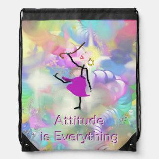 La actitud es todo - baile con los bastones mochilas