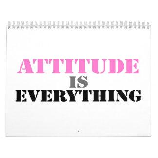 La actitud es todo calendario de pared