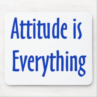 La actitud es todo cojín de ratón tapetes de ratón