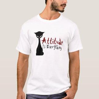 ¡La actitud es todo! Gato gótico - la camisa de