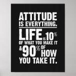 La actitud es todo poster - negro