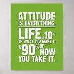 La actitud es todo poster - verde