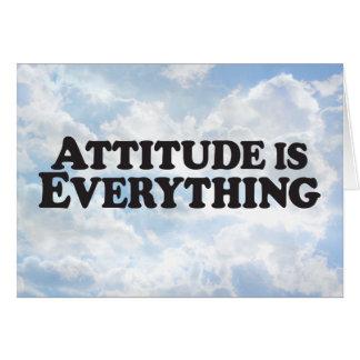 La actitud es todo - tarjeta de felicitación de