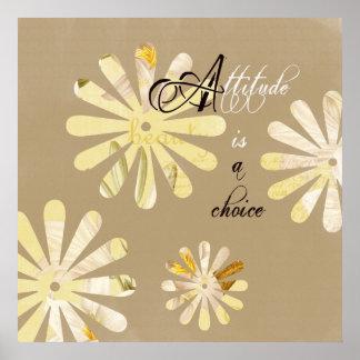 La actitud es una opción impresiones