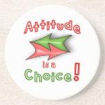 ¡La actitud es una opción! Posavasos Manualidades