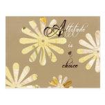 La actitud es una opción tarjetas postales
