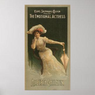 La actriz emocional póster