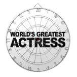 La actriz más grande del mundo tablero dardos