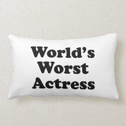 La actriz peor del mundo almohada