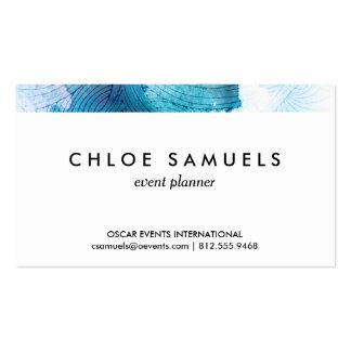 La acuarela agita la púrpura del azul de océano tarjetas de visita
