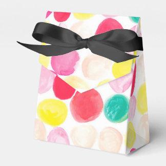 la acuarela colorida circunda las cajas de regalo caja para regalos de fiestas