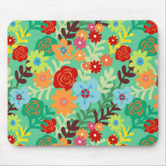 La acuarela colorida florece floral fino tapete de ratón