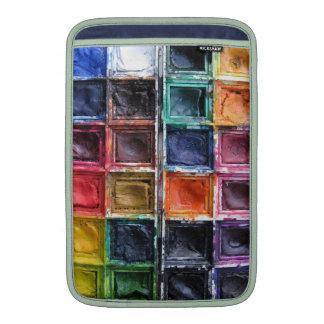La acuarela colorida pinta la caja del ordenador p fundas macbook air