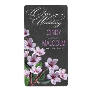 La acuarela de la lila de la pizarra florece la etiquetas de envío