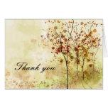La acuarela del otoño le agradece tarjeta de felic
