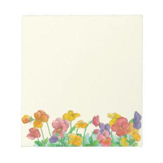La acuarela del pensamiento florece colores del blocs