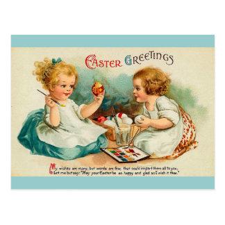 La acuarela Eggs los saludos de Pascua Tarjeta Postal