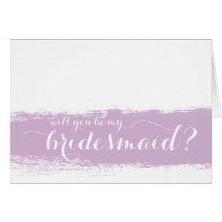 La acuarela el   de la lila usted será mi tarjeta