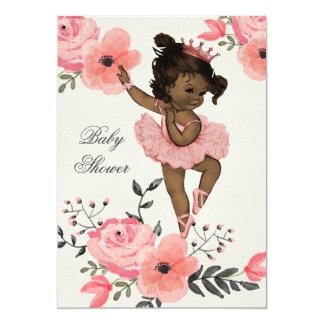 La acuarela étnica de la bailarina florece la invitación 12,7 x 17,8 cm
