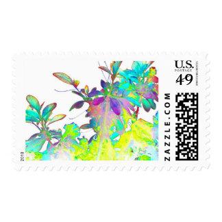 La acuarela florece arte impresionista sello