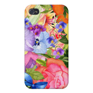 La acuarela florece el iPhone 5 iPhone 4/4S Carcasa
