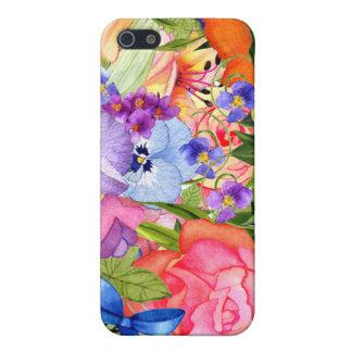La acuarela florece el iPhone 5 iPhone 5 Carcasa