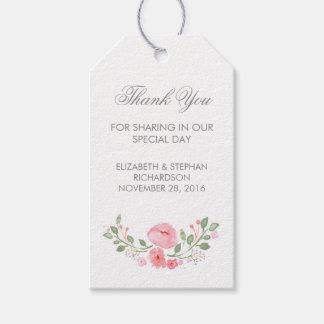 La acuarela florece etiquetas del boda etiquetas para regalos