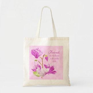 La acuarela florece la bolsa de asas