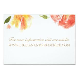 La acuarela florece la tarjeta del Web site Invitación 8,9 X 12,7 Cm