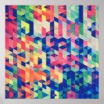 La acuarela geométrica abstracta forma el modelo posters