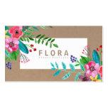 La acuarela moderna florece al florista del papel tarjetas de visita