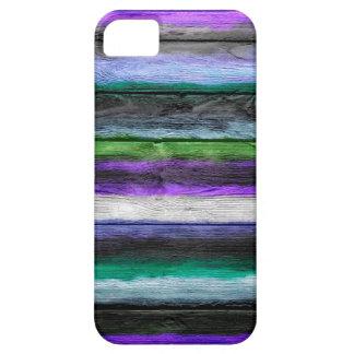 La acuarela multicolora abstracta raya el modelo iPhone 5 Case-Mate coberturas