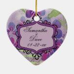 La acuarela púrpura florece el recuerdo de encargo ornamentos de reyes magos