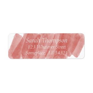 La acuarela raya la etiqueta anaranjada roja del etiquetas de remite