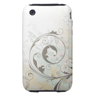 La acuarela remolina caso del iPhone 3gs Funda Though Para iPhone 3