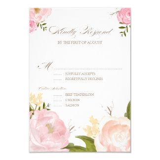 La acuarela romántica florece casando la tarjeta invitación 8,9 x 12,7 cm