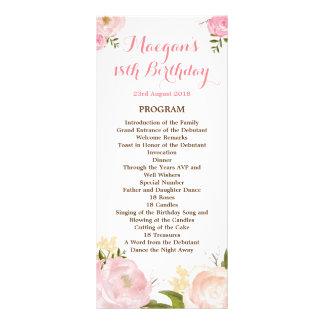 La acuarela romántica florece el programa - tarjeta publicitaria