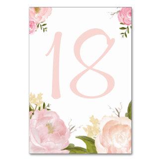 La acuarela romántica florece la tarjeta de los