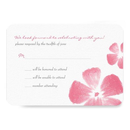 La acuarela tropical rosada florece casando RSVP Comunicado Personalizado