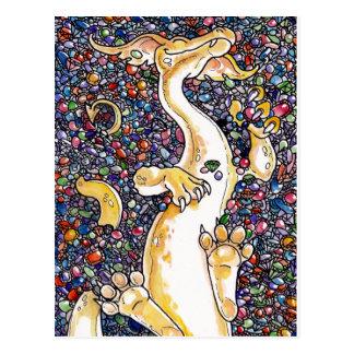 La acumulación del dragón postales
