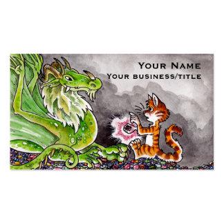 La acumulación del dragón plantilla de tarjeta de negocio