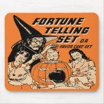 La adivinación de Halloween del vintage fijó Mouse Alfombrillas De Raton