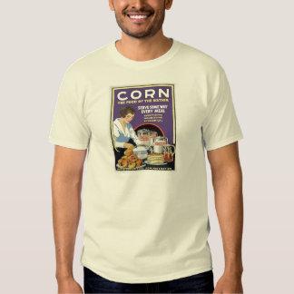 La administración de la comida WW1 come más maíz Polera