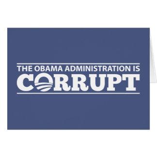 La administración de Obama es corrupta Tarjeton