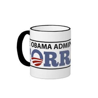 La administración de Obama es corrupta Taza De Café
